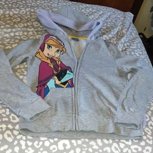 Girls disney frozen hoodie with cape